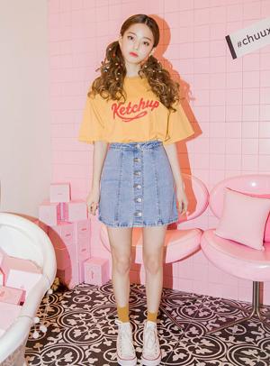 이런빈티지청 넘좋아 skirt - 아이스크림12(icecream12) 패션쇼핑몰