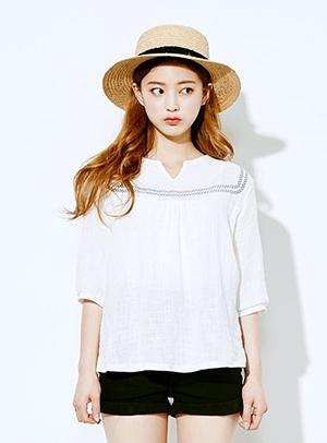 자수인듯 자수아닌 blouse - 아이스크림12(icecream12) 패션쇼핑몰