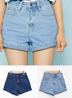 밑단롤업 안붙어있어요 shorts pants - 아이스크림12(icecream12) 패션쇼핑몰