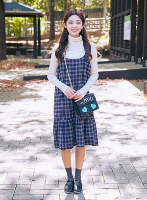 롱치마는 키가 작아 보여서 귀여워요 dress - 아이스크림12(icecream12) 패션쇼핑몰